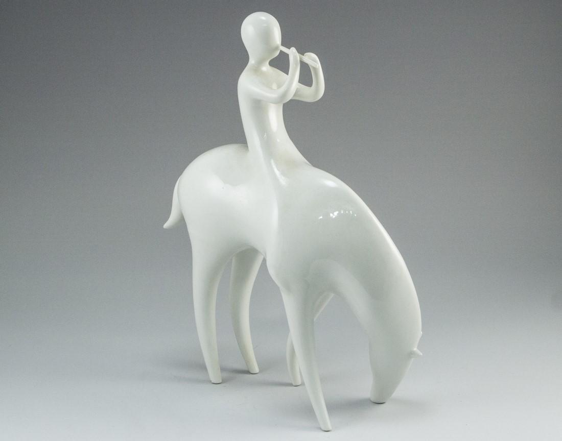 Modernist Porcelain Figurine, Royal Dux - 2