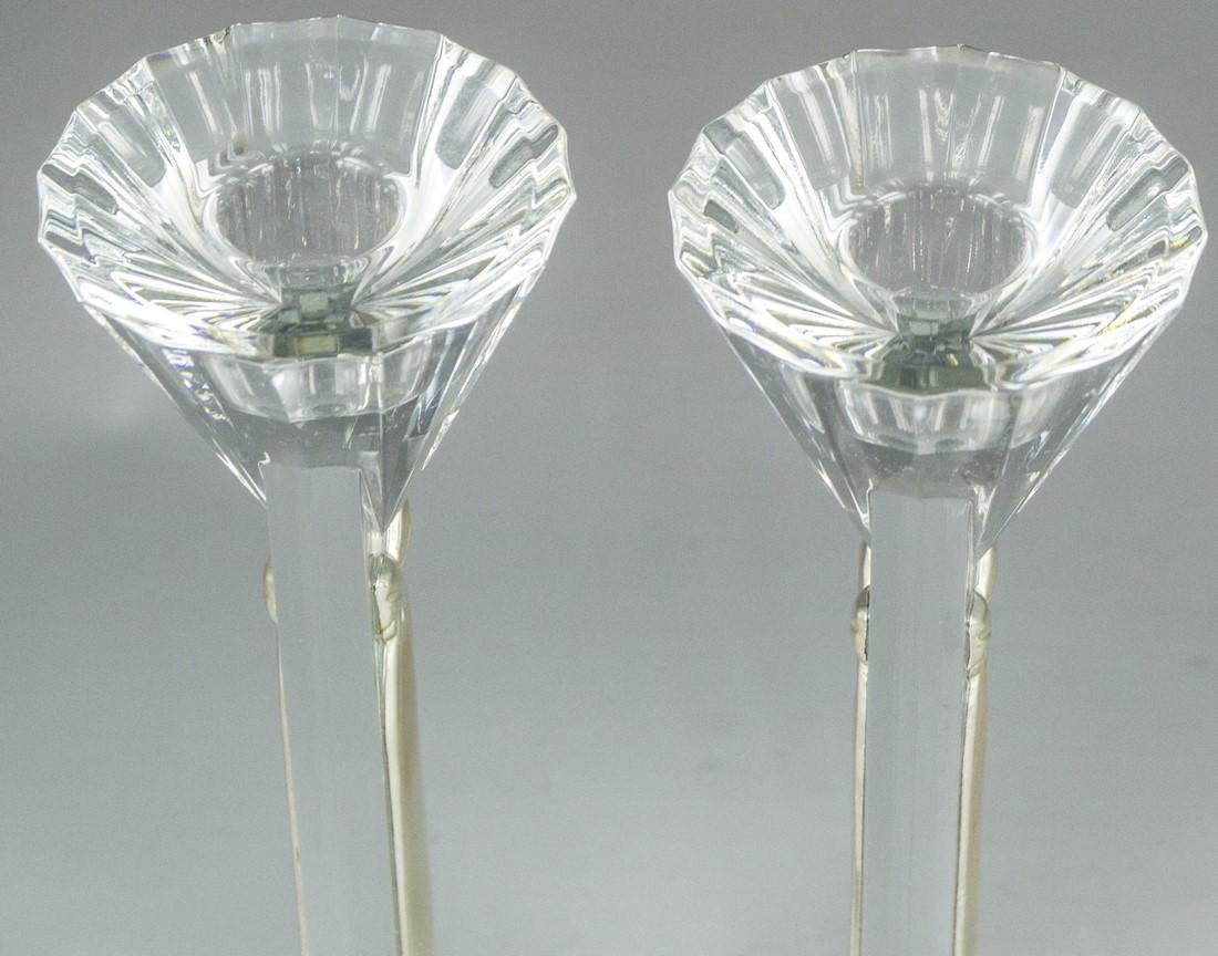 Pair of Crystal and Silver Candlesticks - 3
