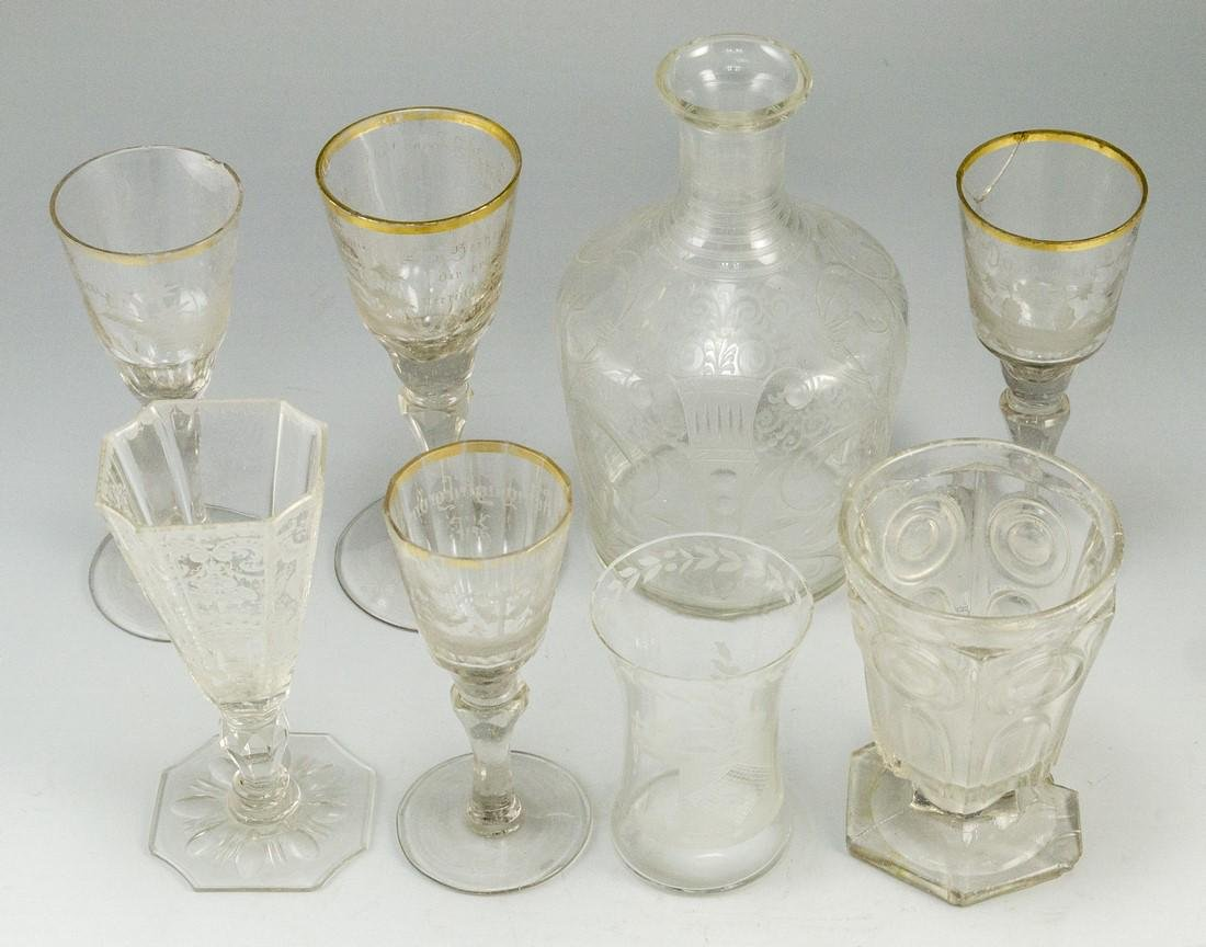 Antique Glass Items - 2