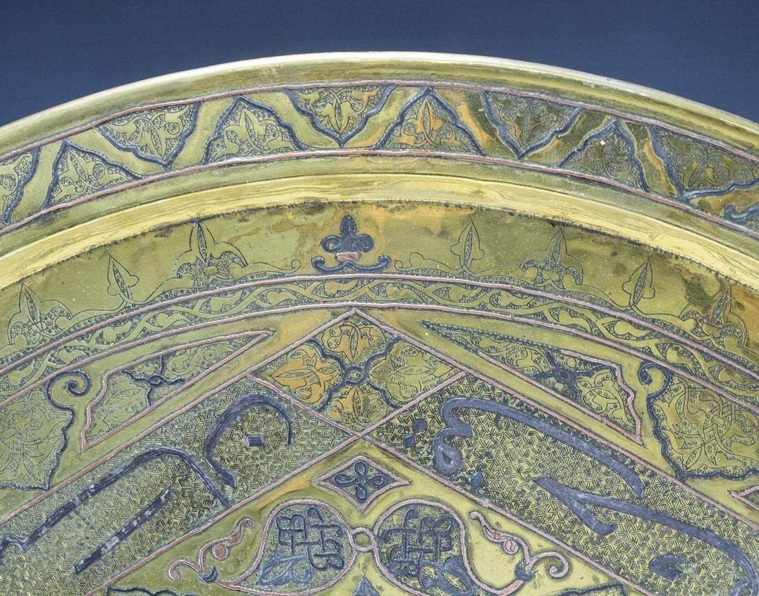 Oversized Damascene Brass Tray - 4