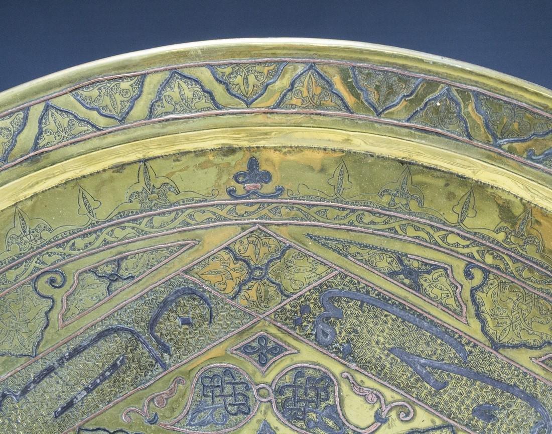 Oversized Damascene Brass Tray - 4
