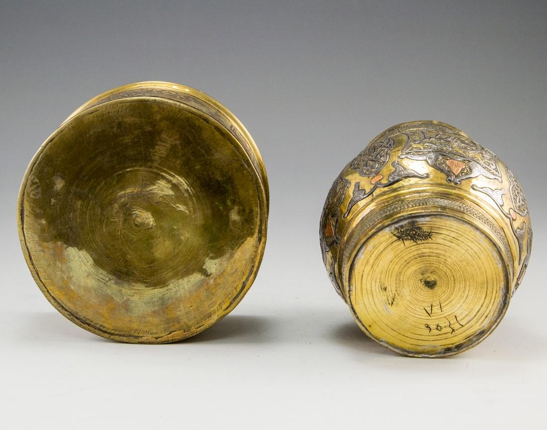 Lot of Two Islamic Brass boxes - 5