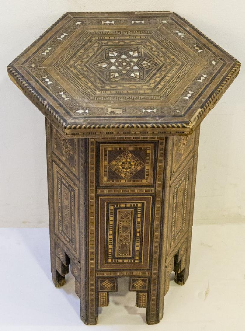 Damascene Wooden Hexagonal Table