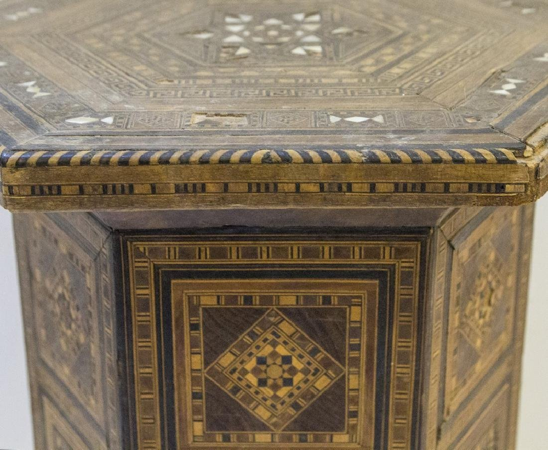 Damascene Wooden Hexagonal Table - 2