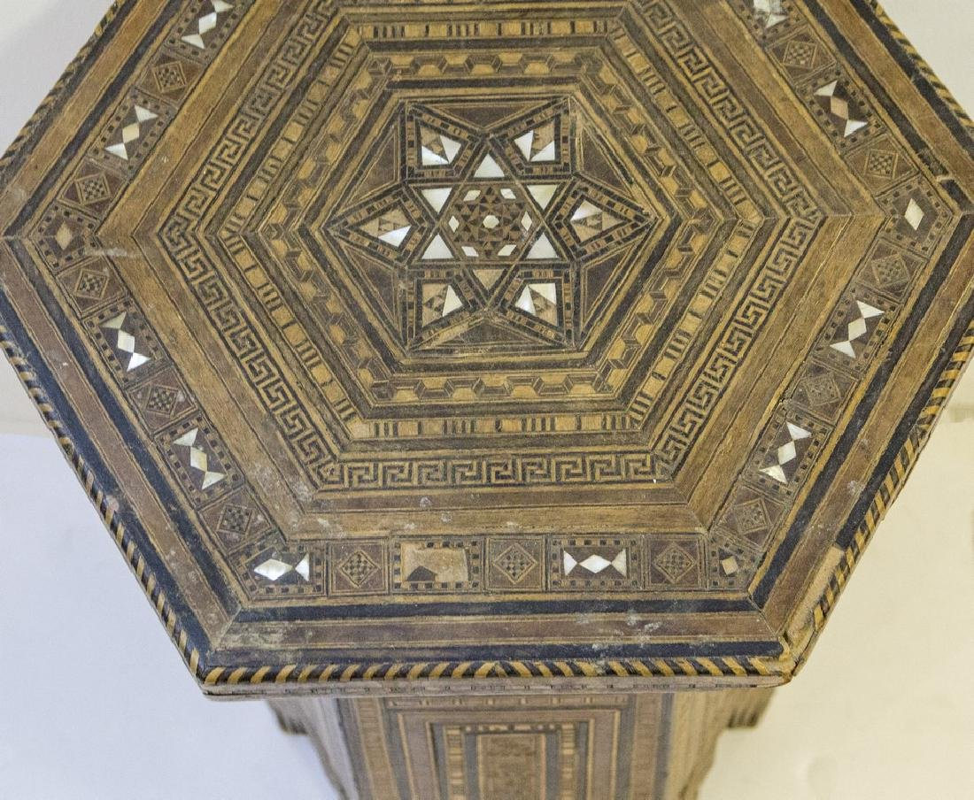 Damascene Wooden Hexagonal Table - 3
