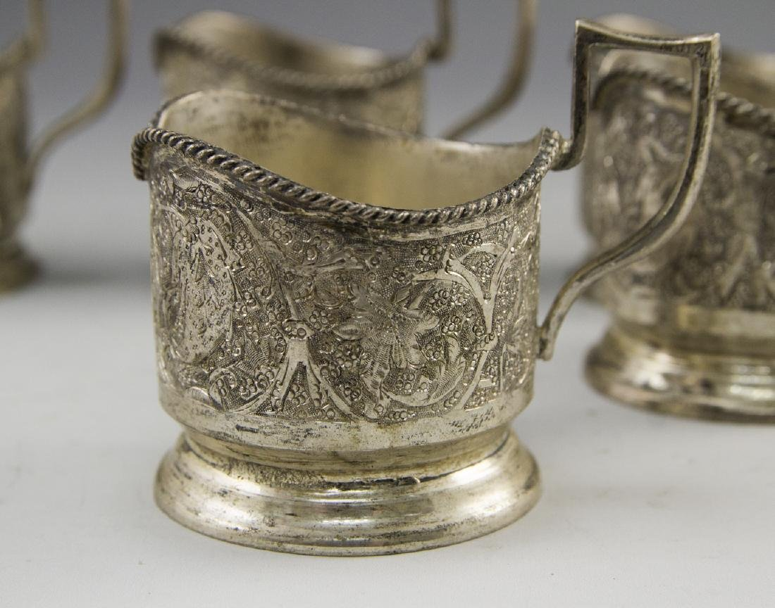 Set of Persian Silver Cup Holders - 4