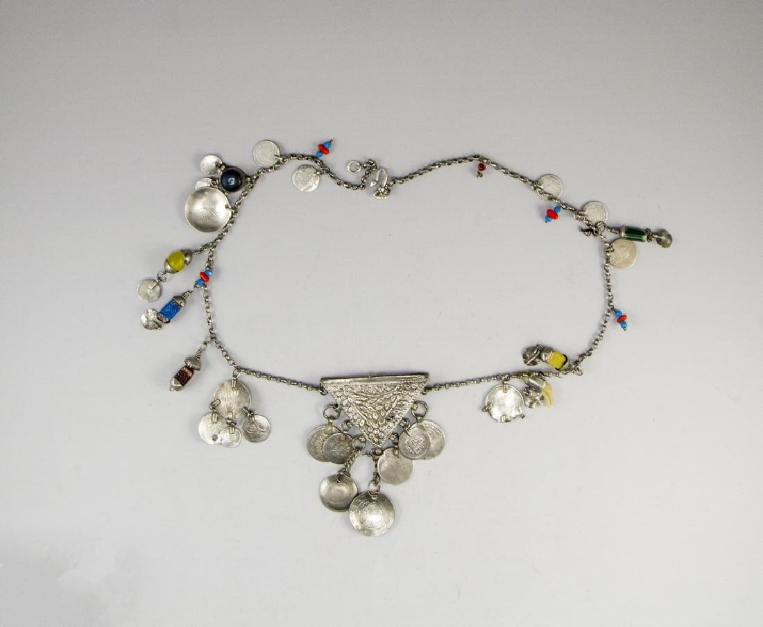 Ethnic Silver Necklace