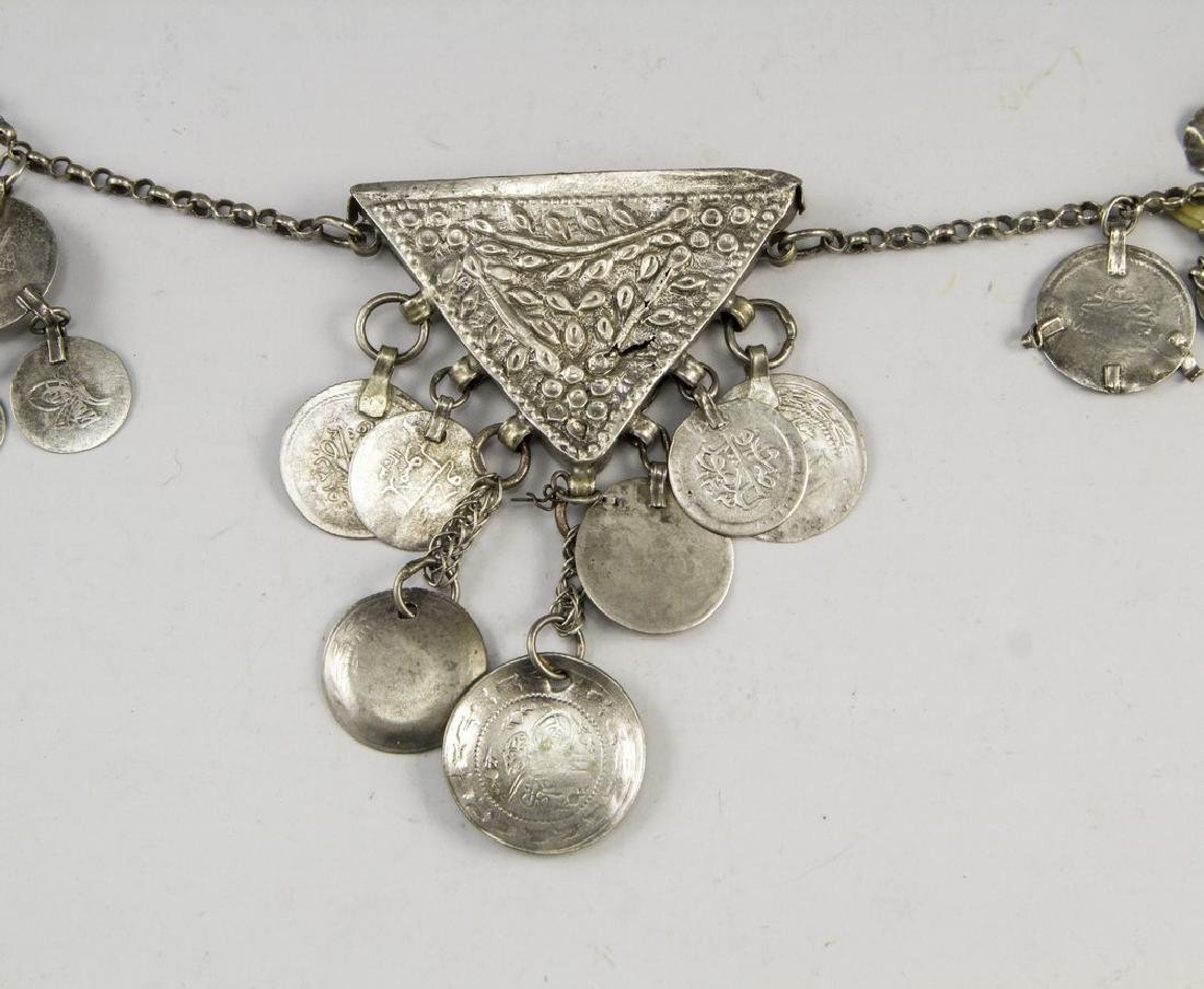 Ethnic Silver Necklace - 2
