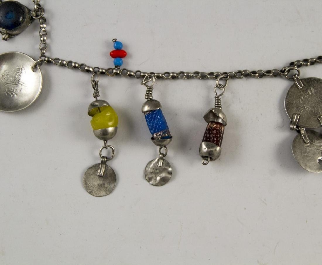 Ethnic Silver Necklace - 3
