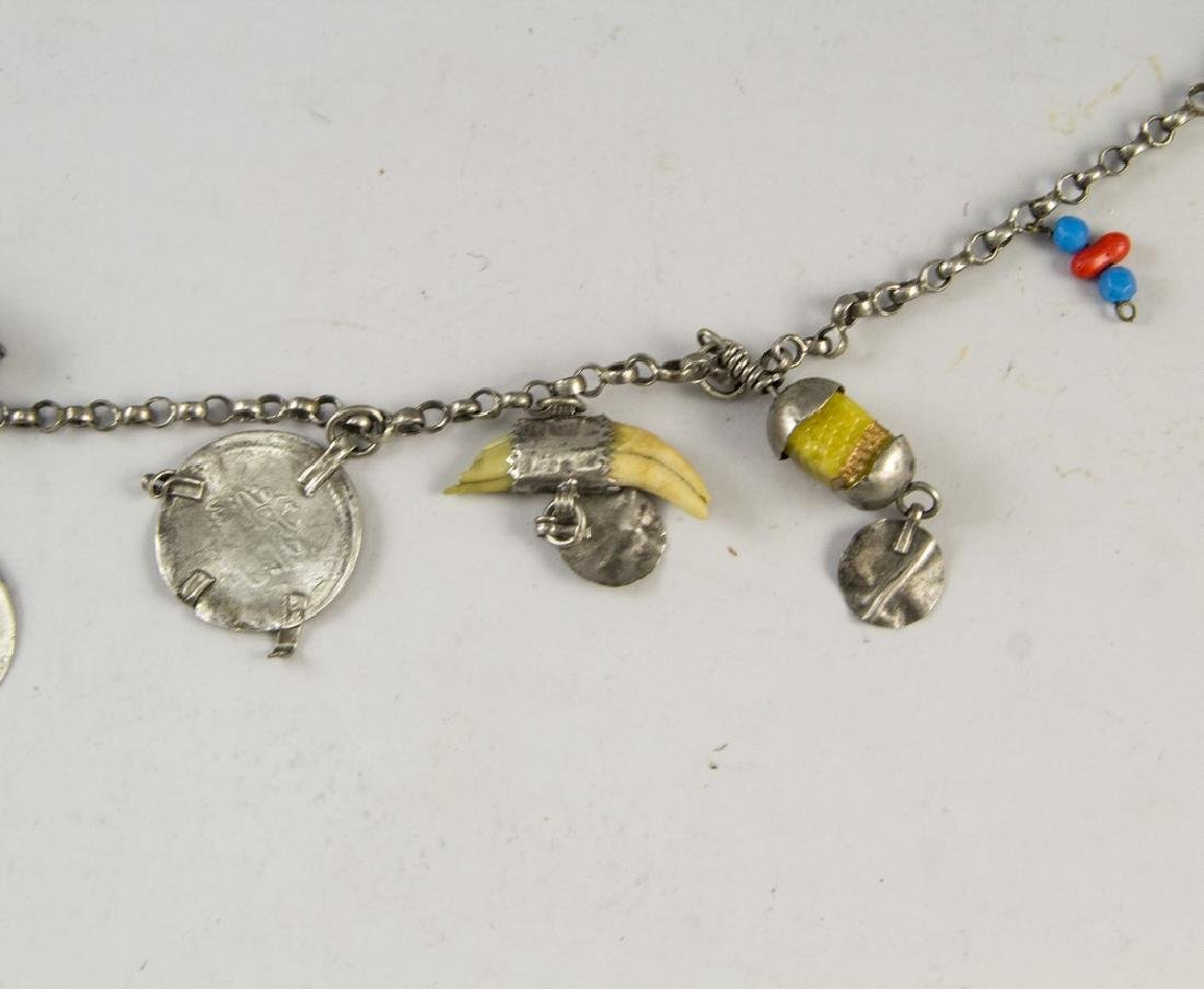 Ethnic Silver Necklace - 4