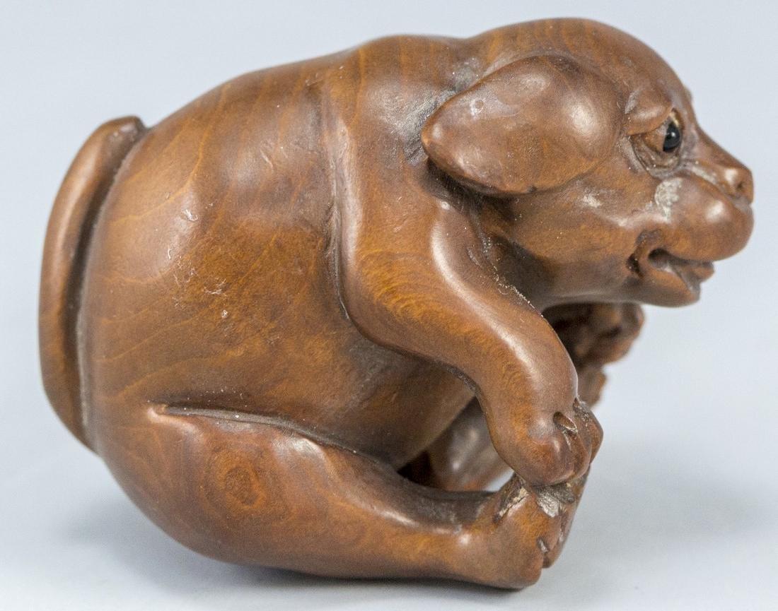 Japanese Wooden Netsuke - 2