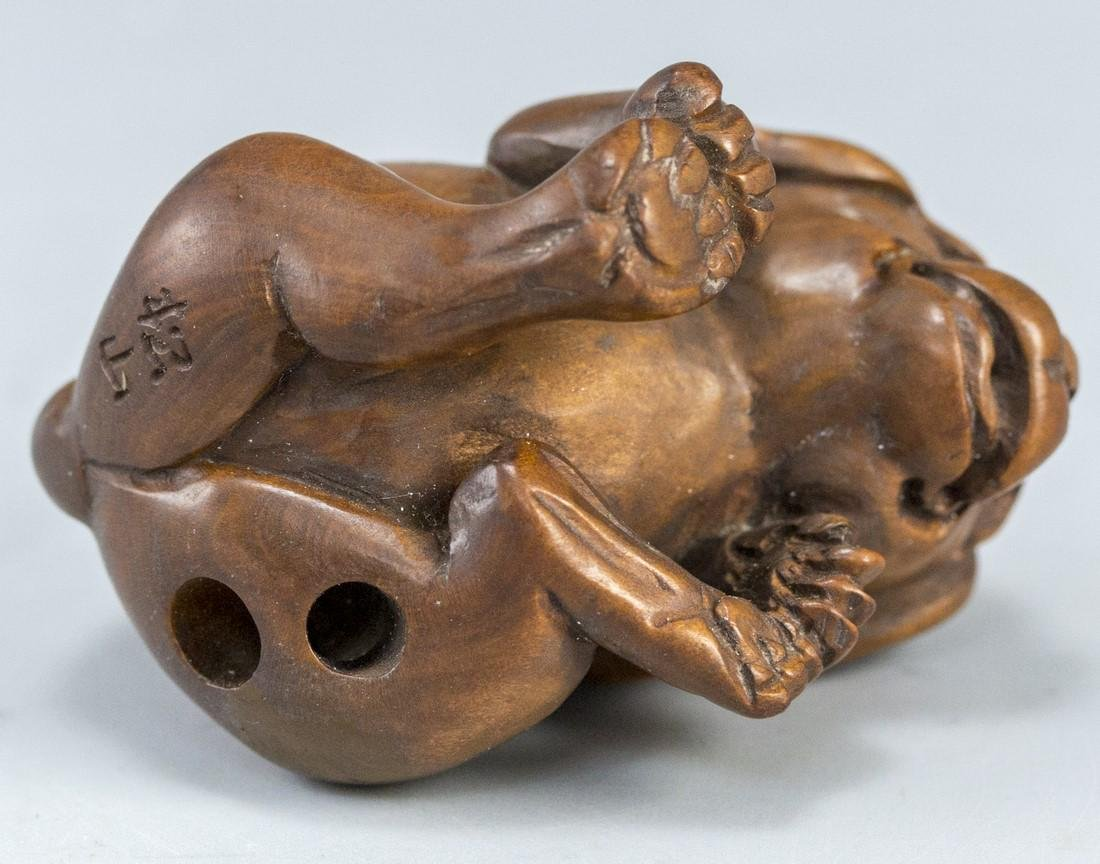 Japanese Wooden Netsuke - 4