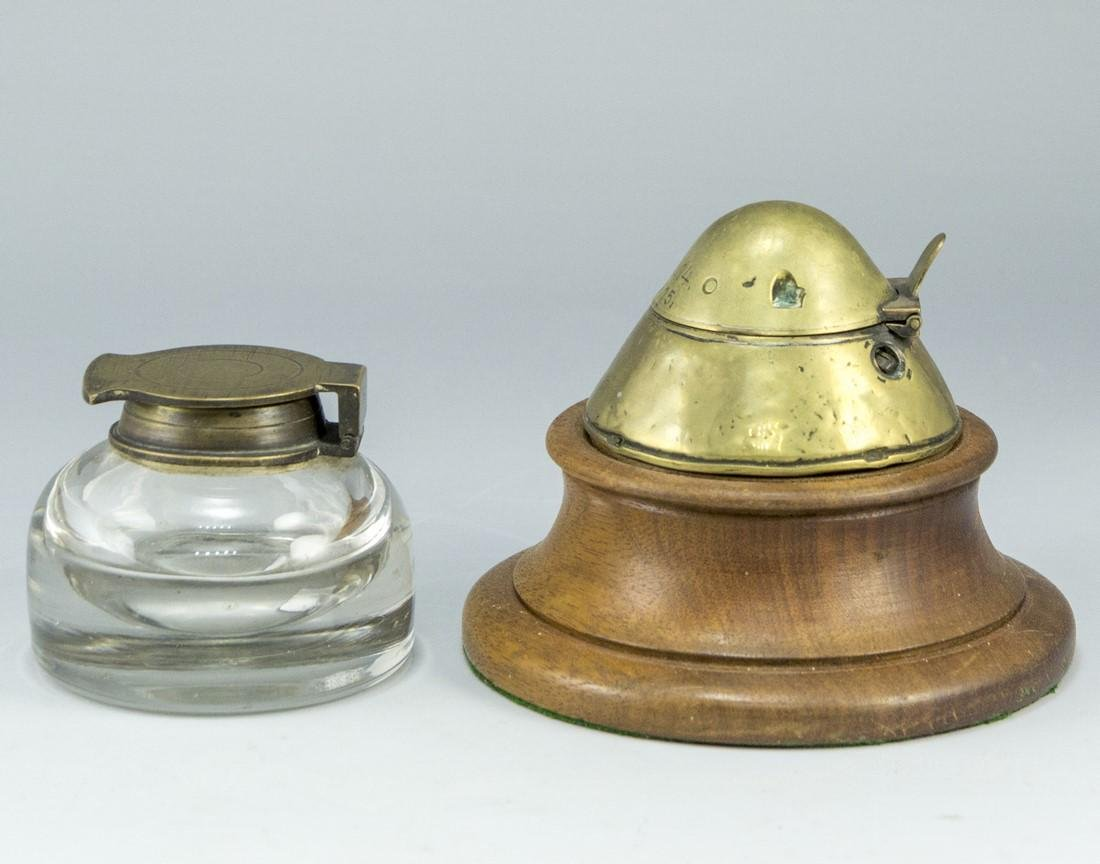 Lot of Trench Art Inkwells