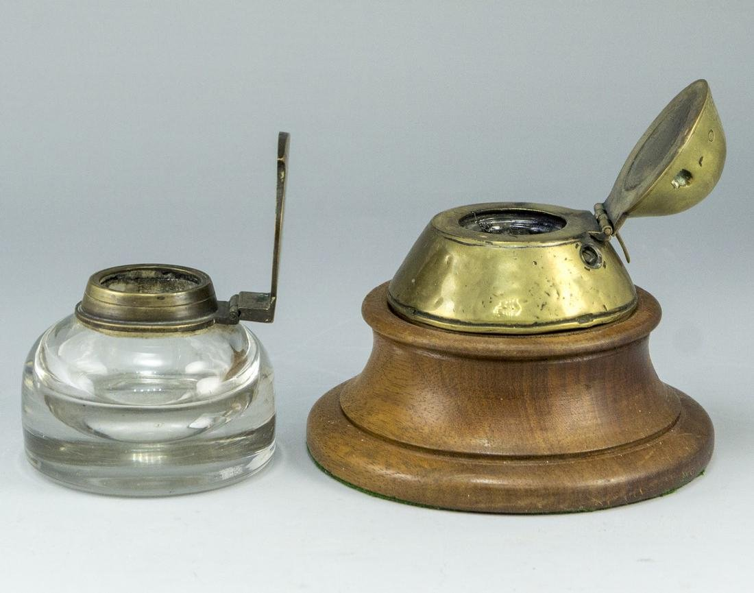 Lot of Trench Art Inkwells - 2