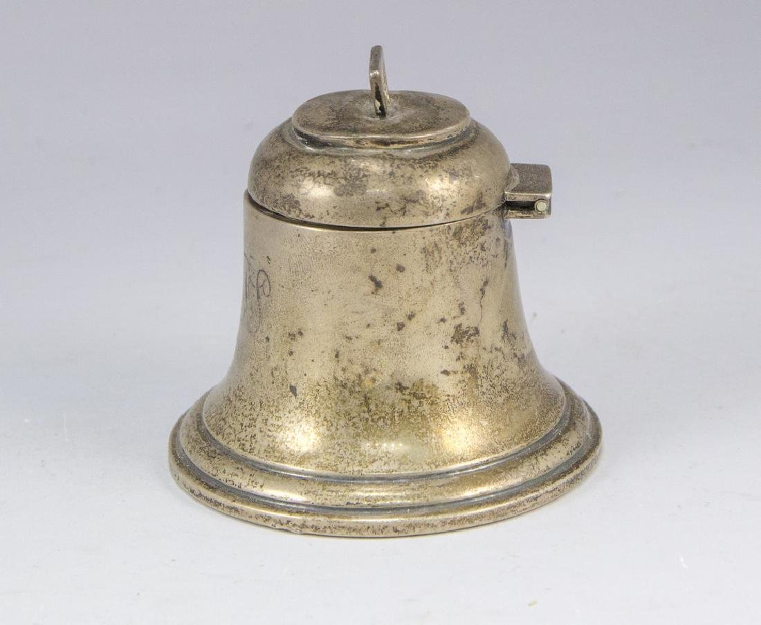 English Silver Inkwell - 2