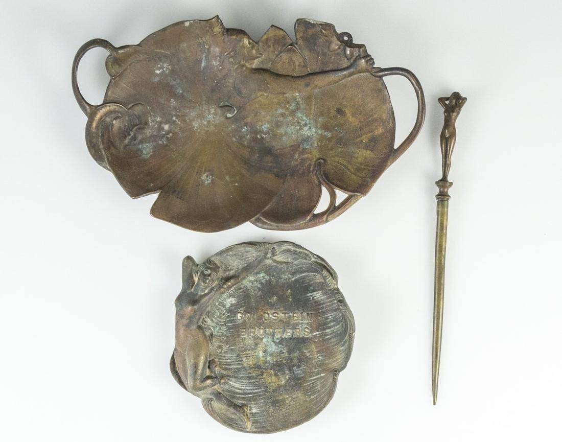 Art Nouveau Brass Items