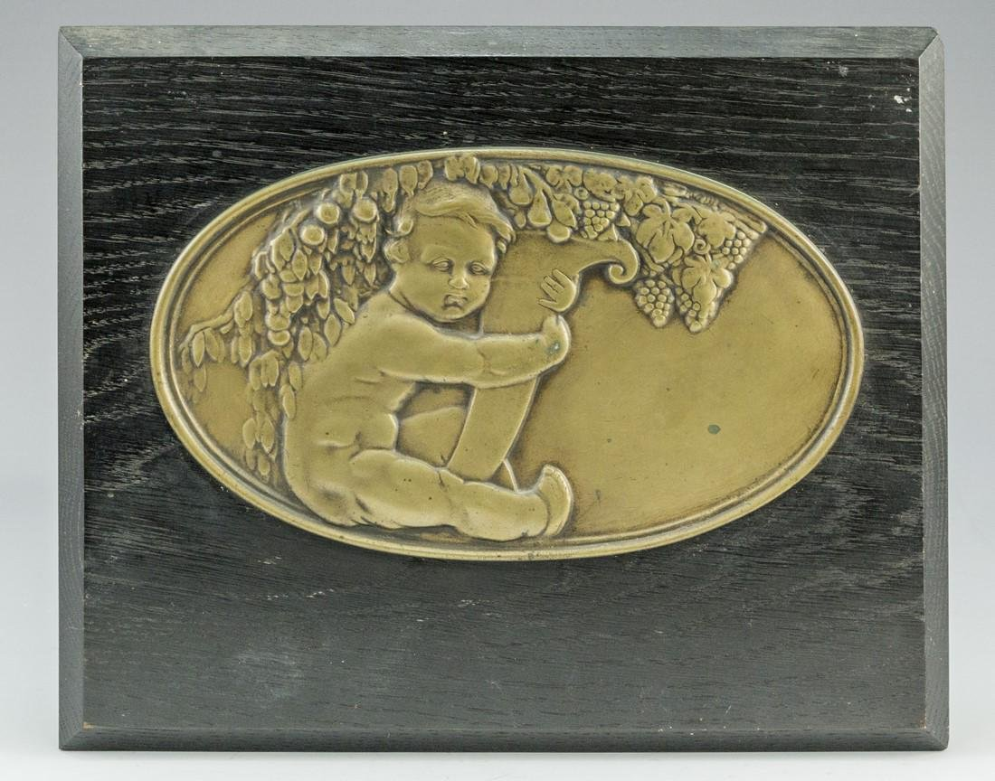 French Bronze Relief