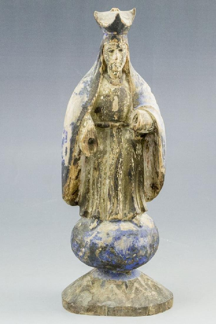 Wooden Sculpture, Mary