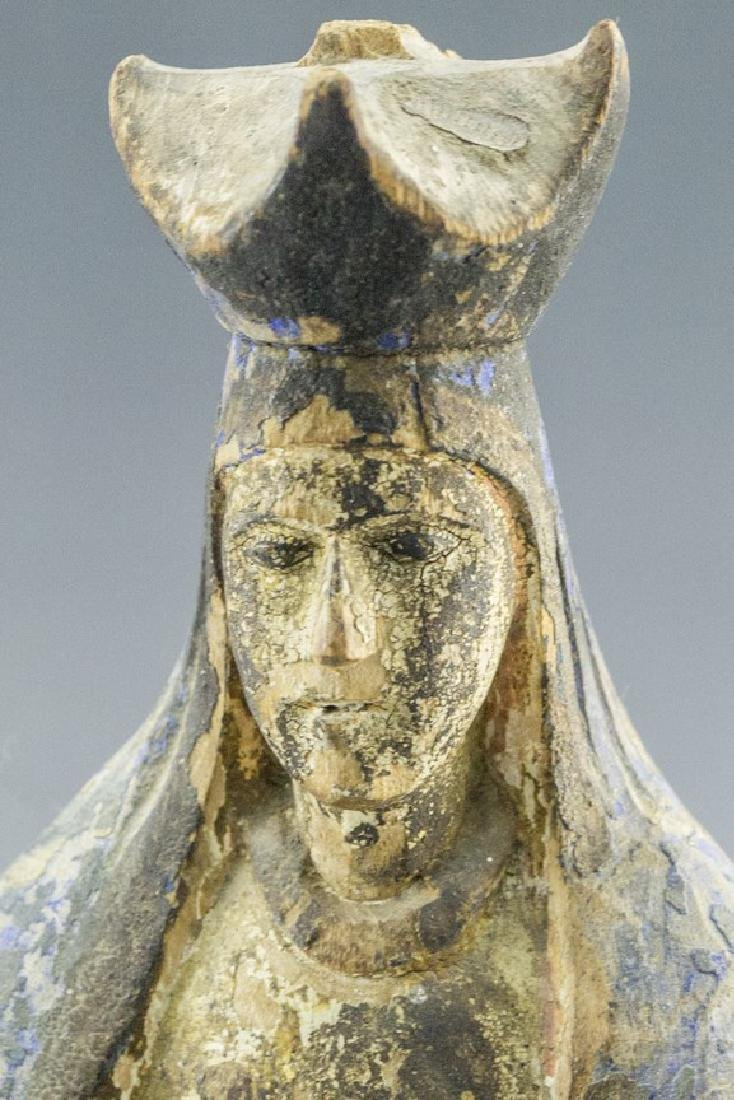 Wooden Sculpture, Mary - 3