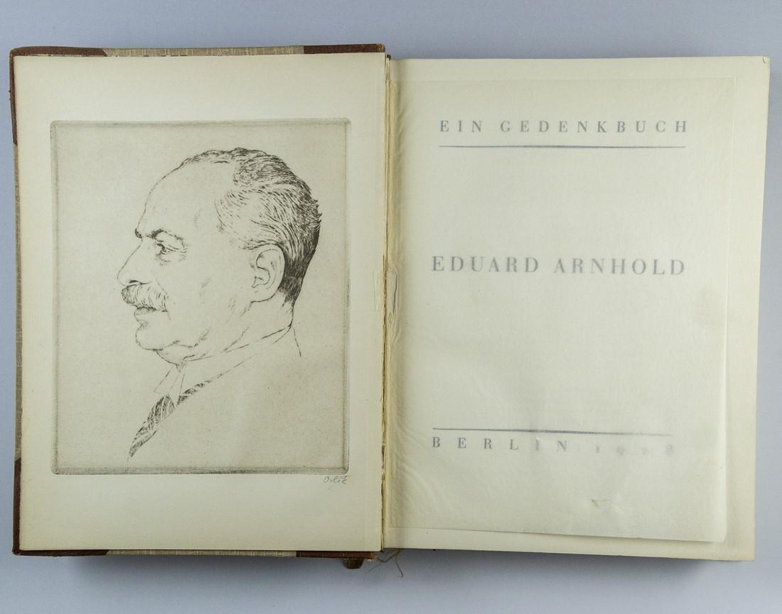 Eduard Arnhold, Ein Gedenkbuch