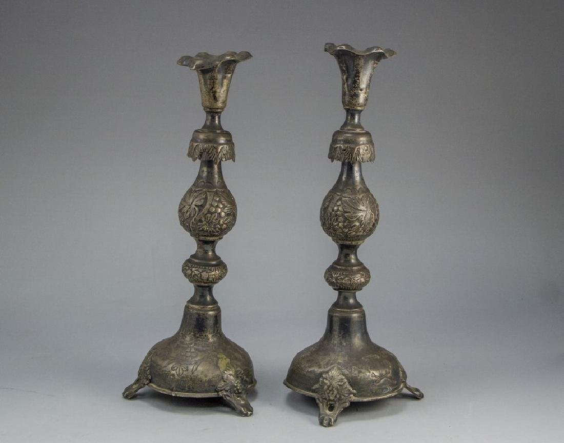 Polish Silver Candlesticks