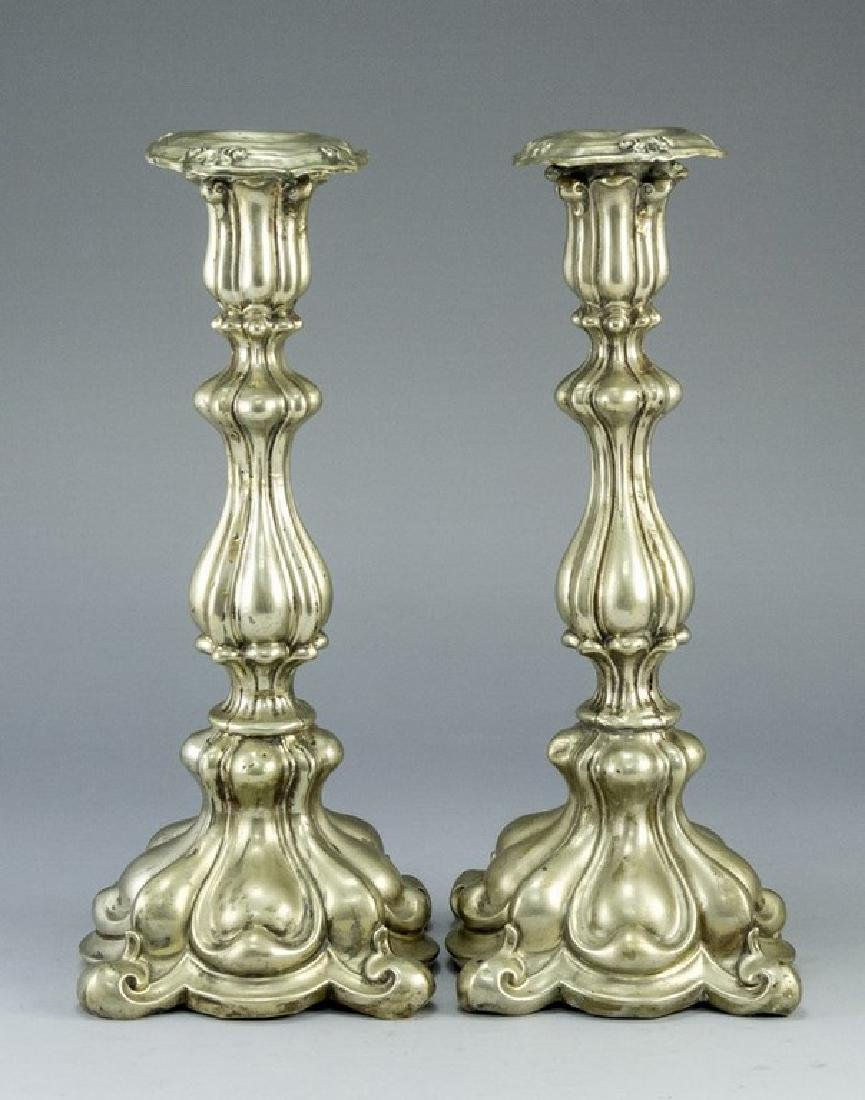 Pair of Polish Candlesticks