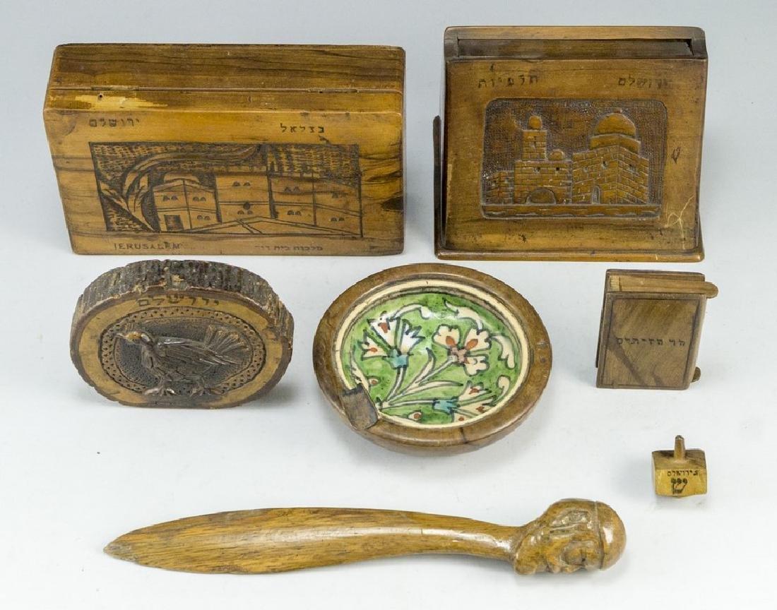 Lot of Jerusalem Olivewood Items - 2
