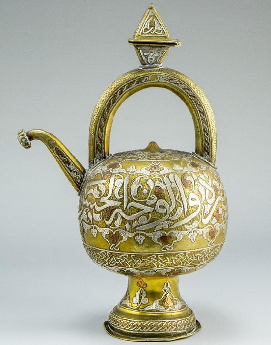 Damascene Brass Teapot
