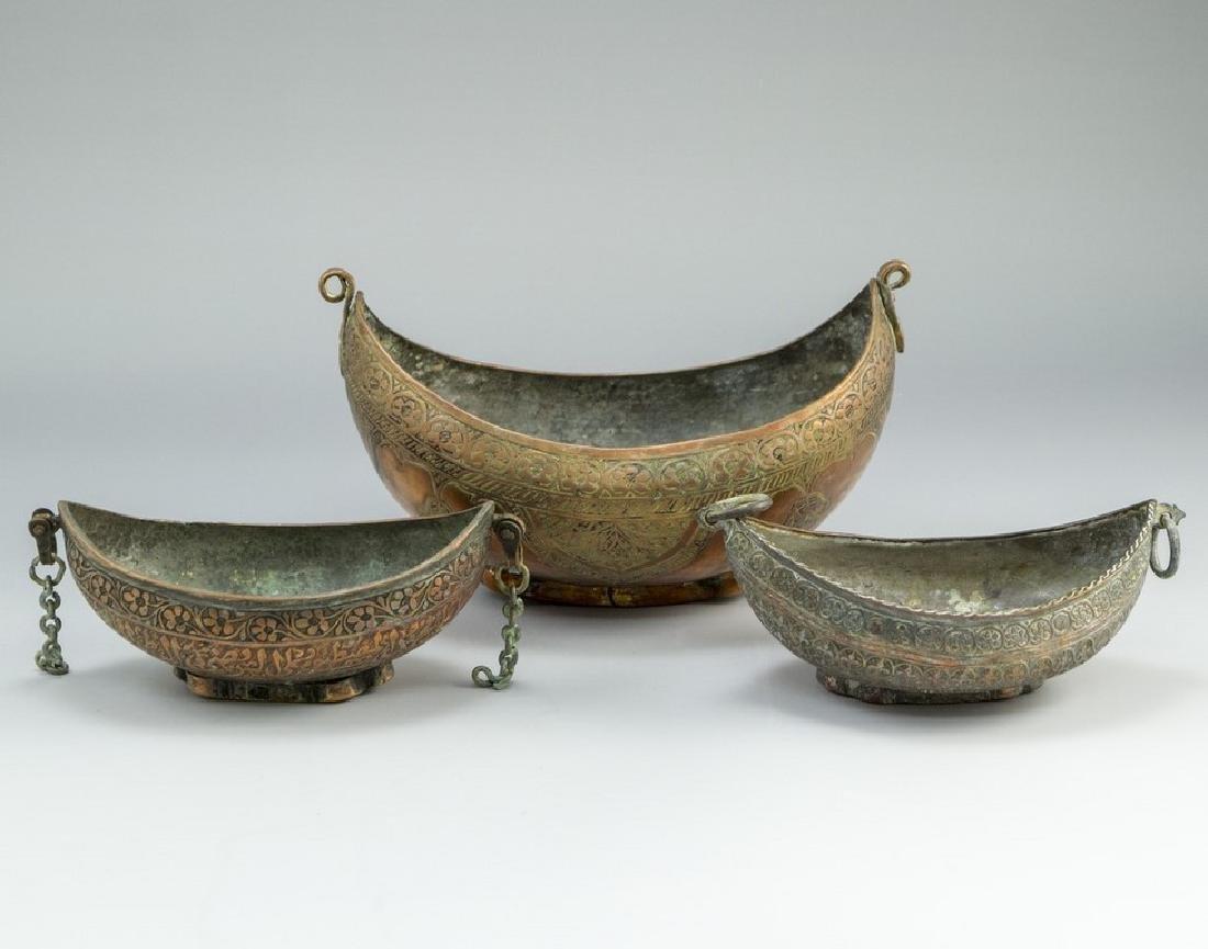 Lot of Islamic Copper Bowls