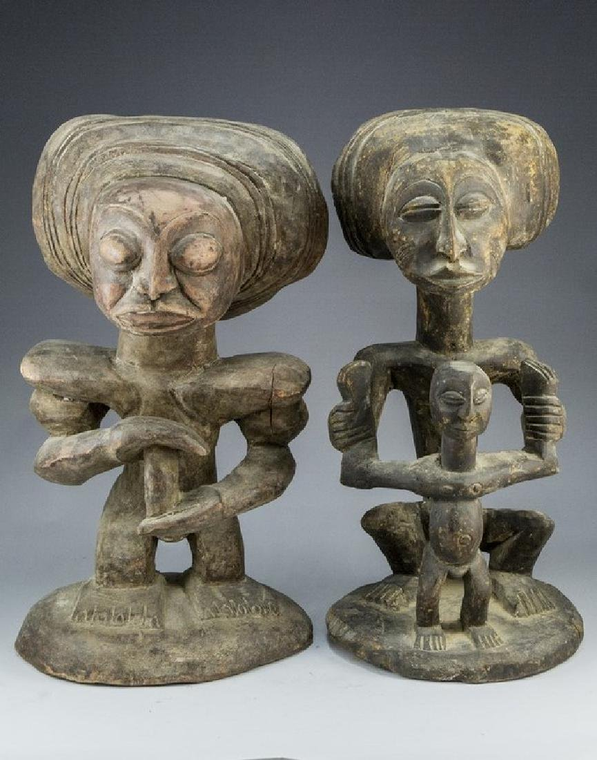 Pair of African Wooden Sculptures