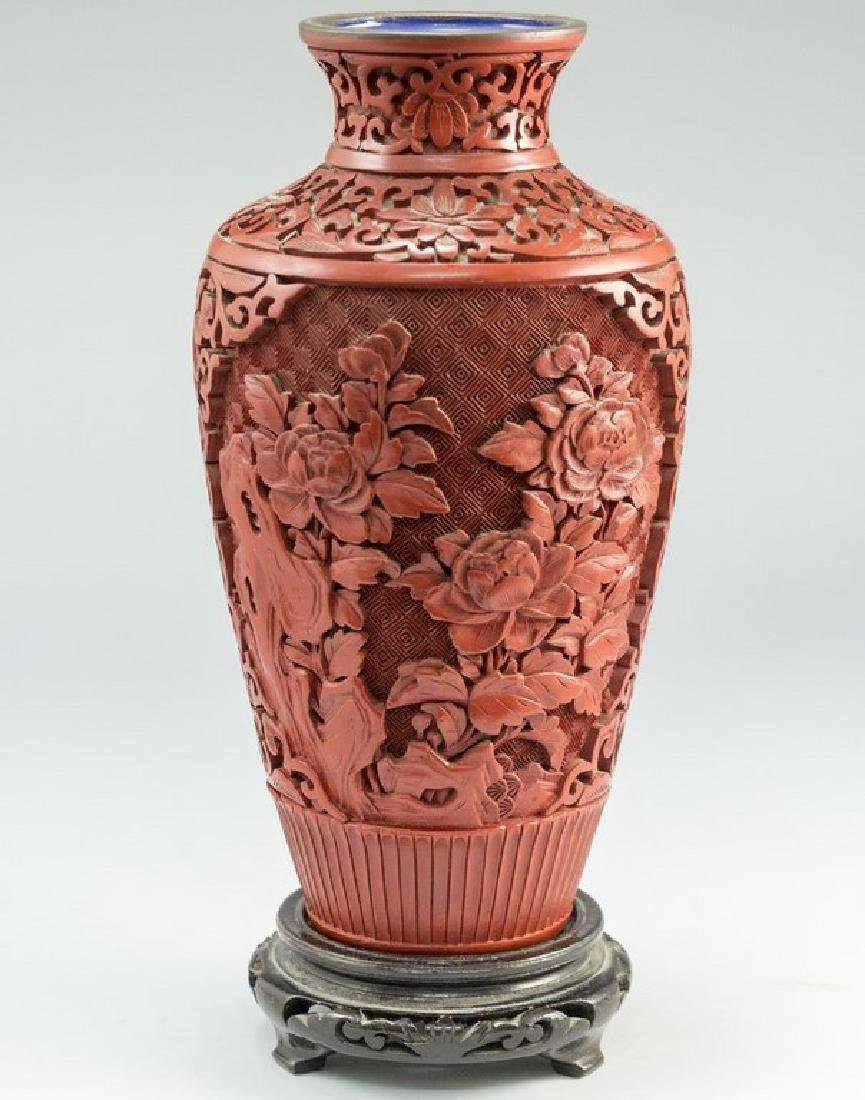 Chinese Lacquer Cinnabar Vase