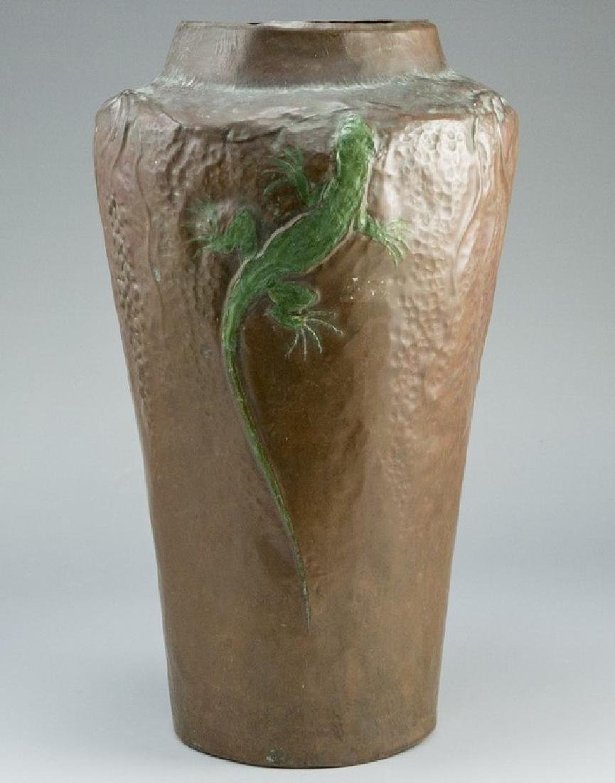 Arts and Crafts Copper Vase