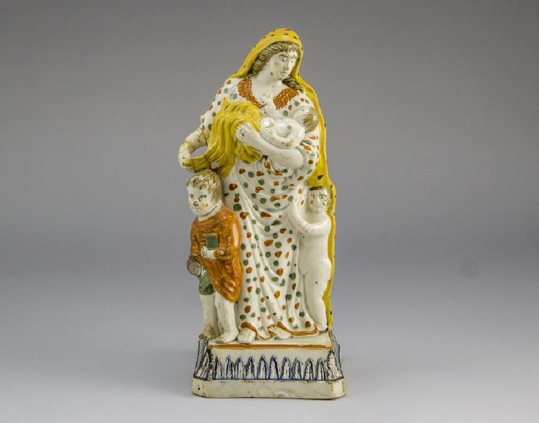 Christian Majolica Figurine