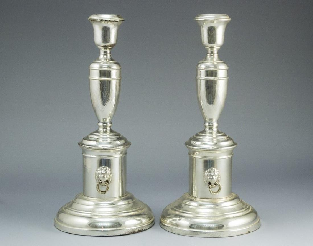 Silver-Plated Candlesticks