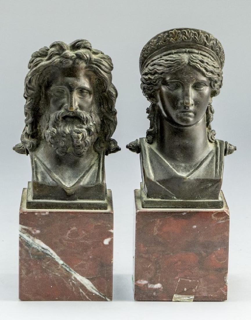 Zeus and Diana Sculptures
