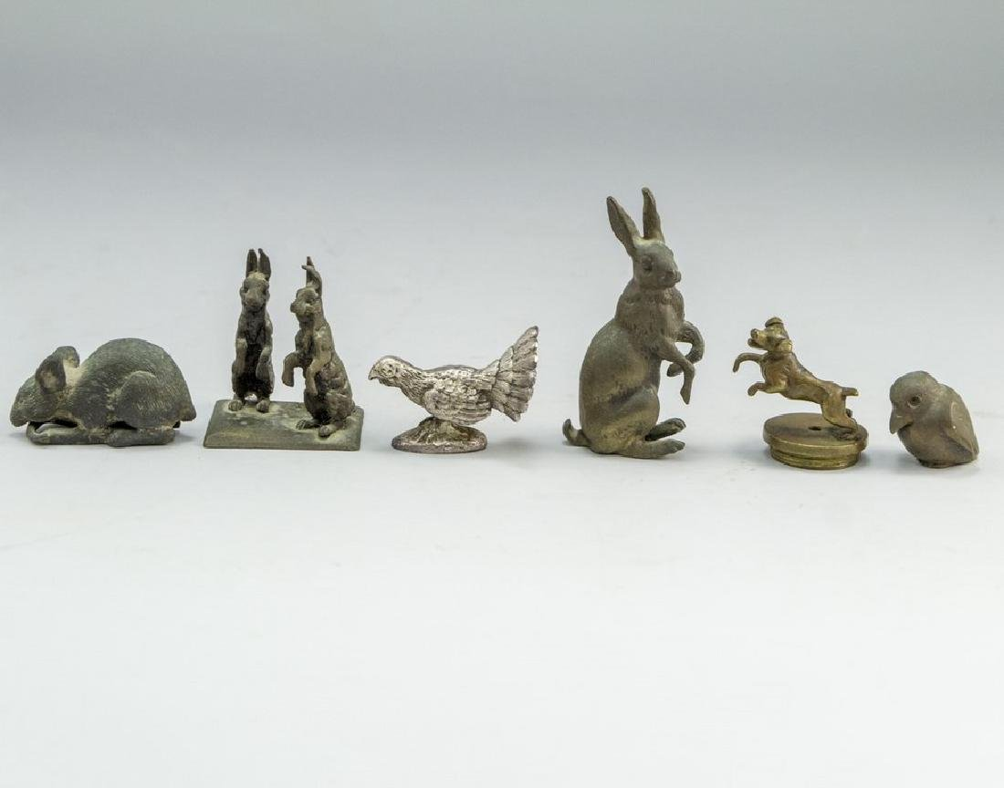 Lot of 6 Small Bronze Sculptures -Animals