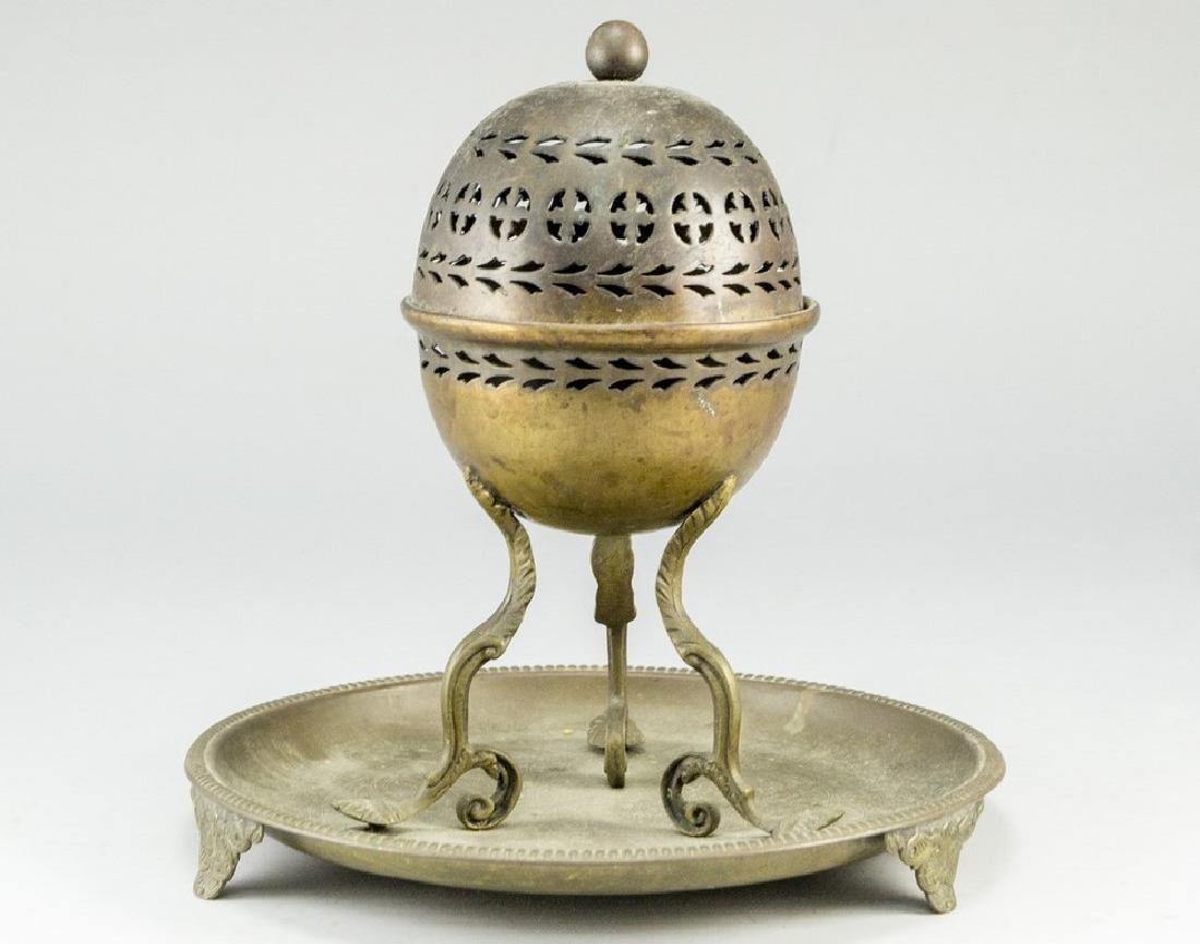 English brass Incense Burner