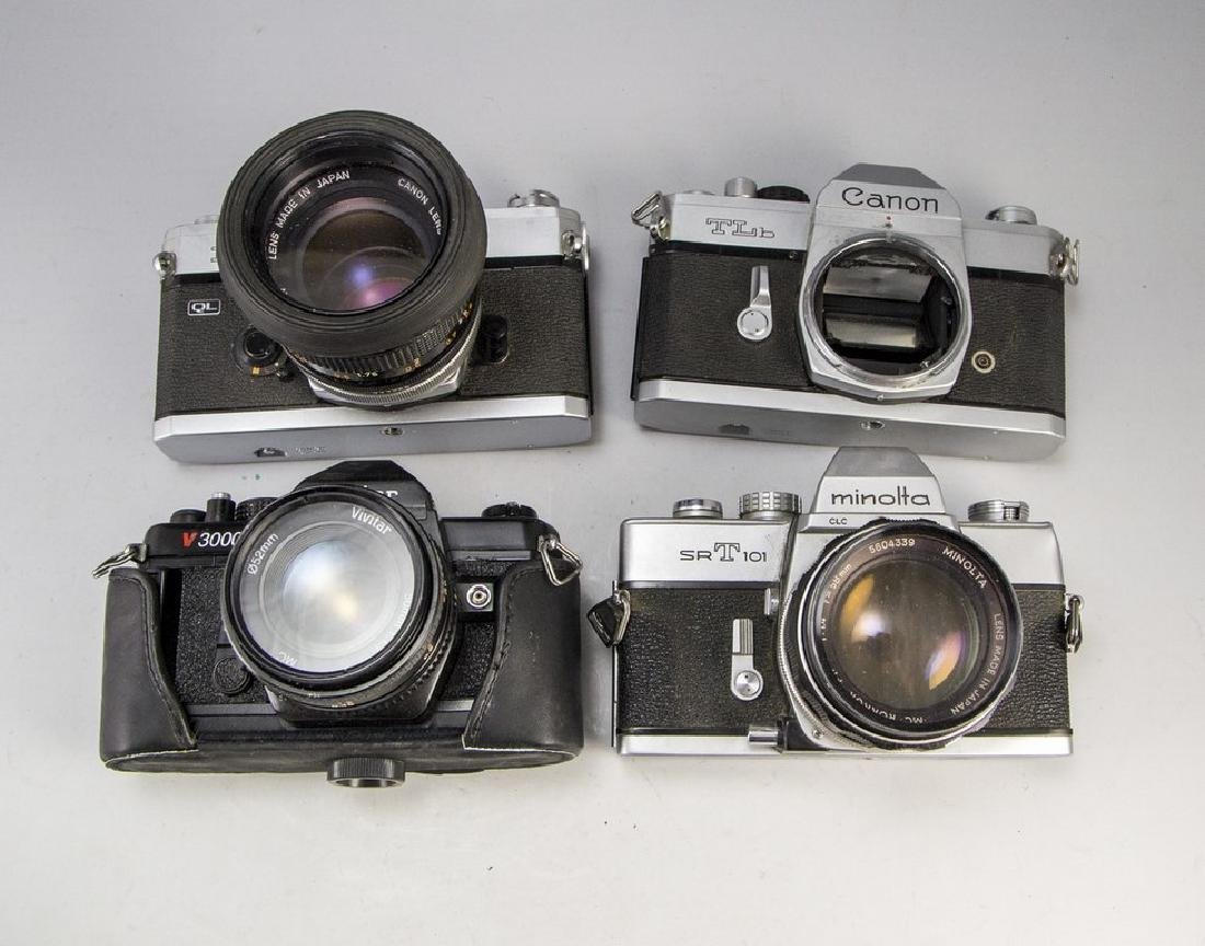 Lot of Japanese SLR Cameras
