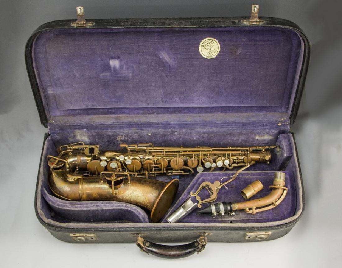 Vintage Brass Saxophone