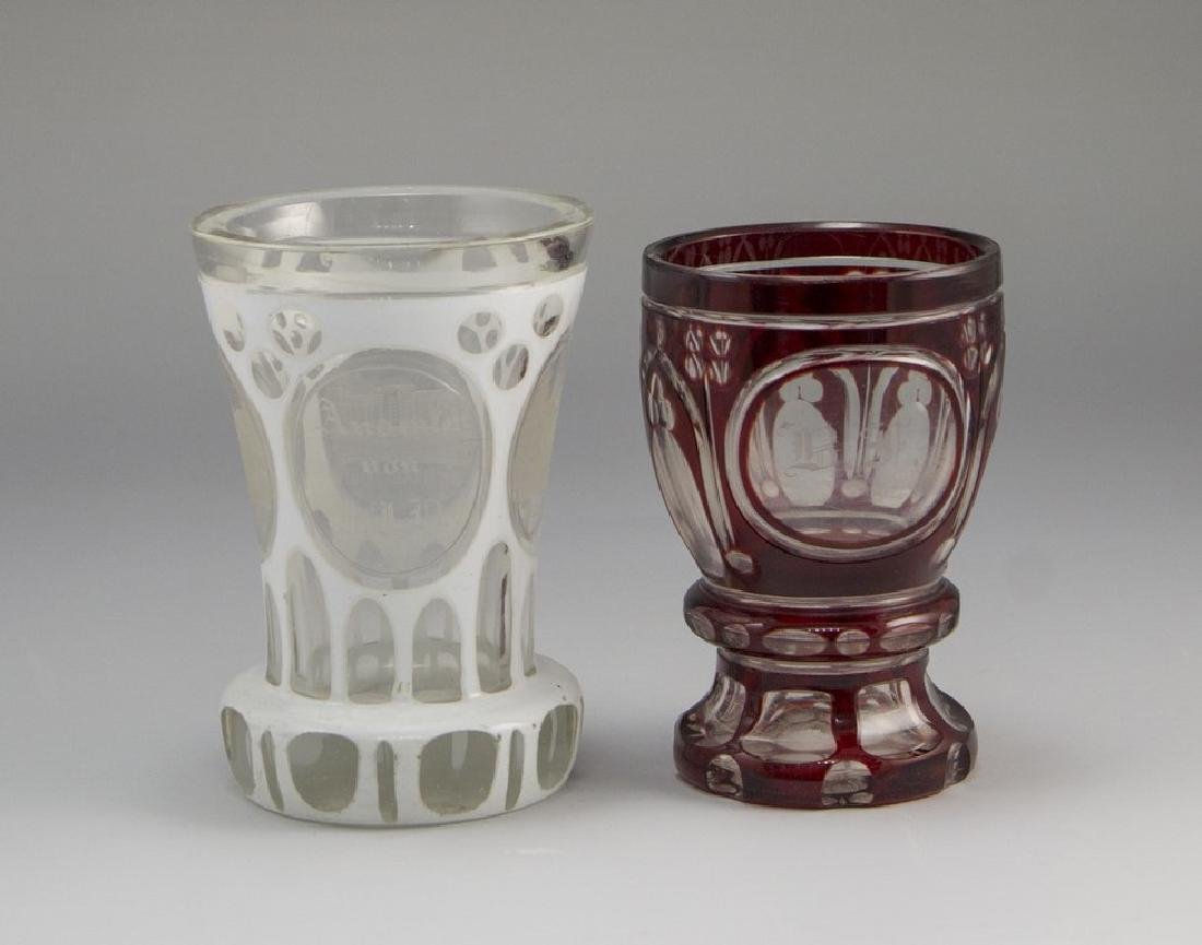 Lot of Bohemian Glass Goblets
