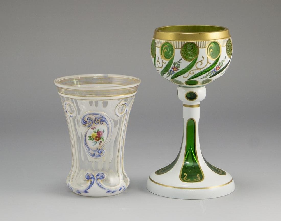 Lot of Bohemian Glass Goblets