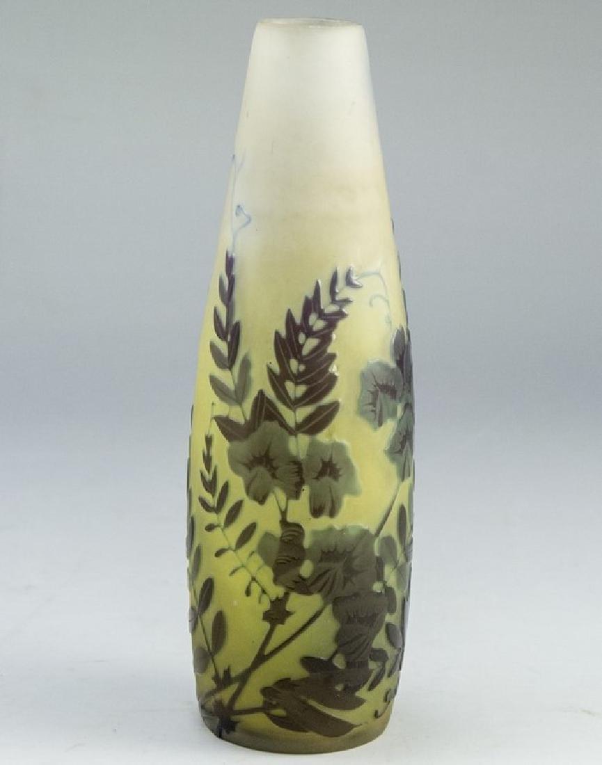 Gallé Cameo Glass Vase