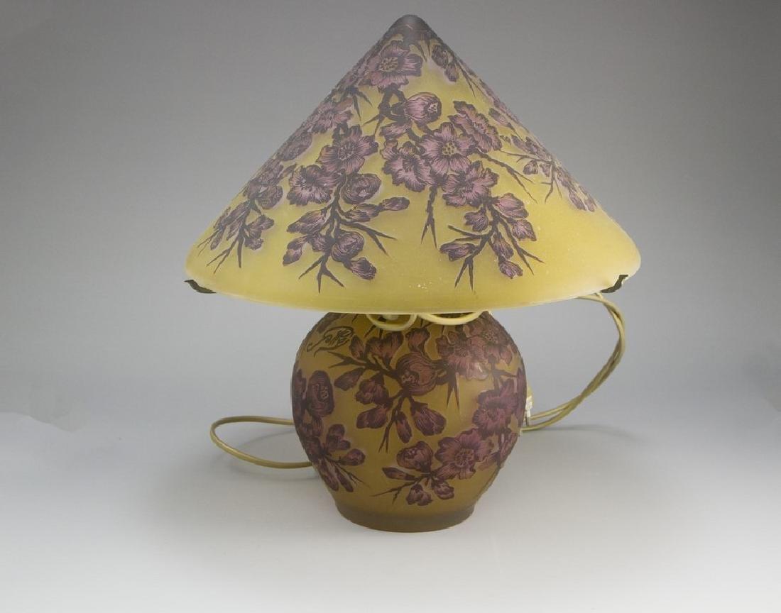 Gallé Style Table Lamp