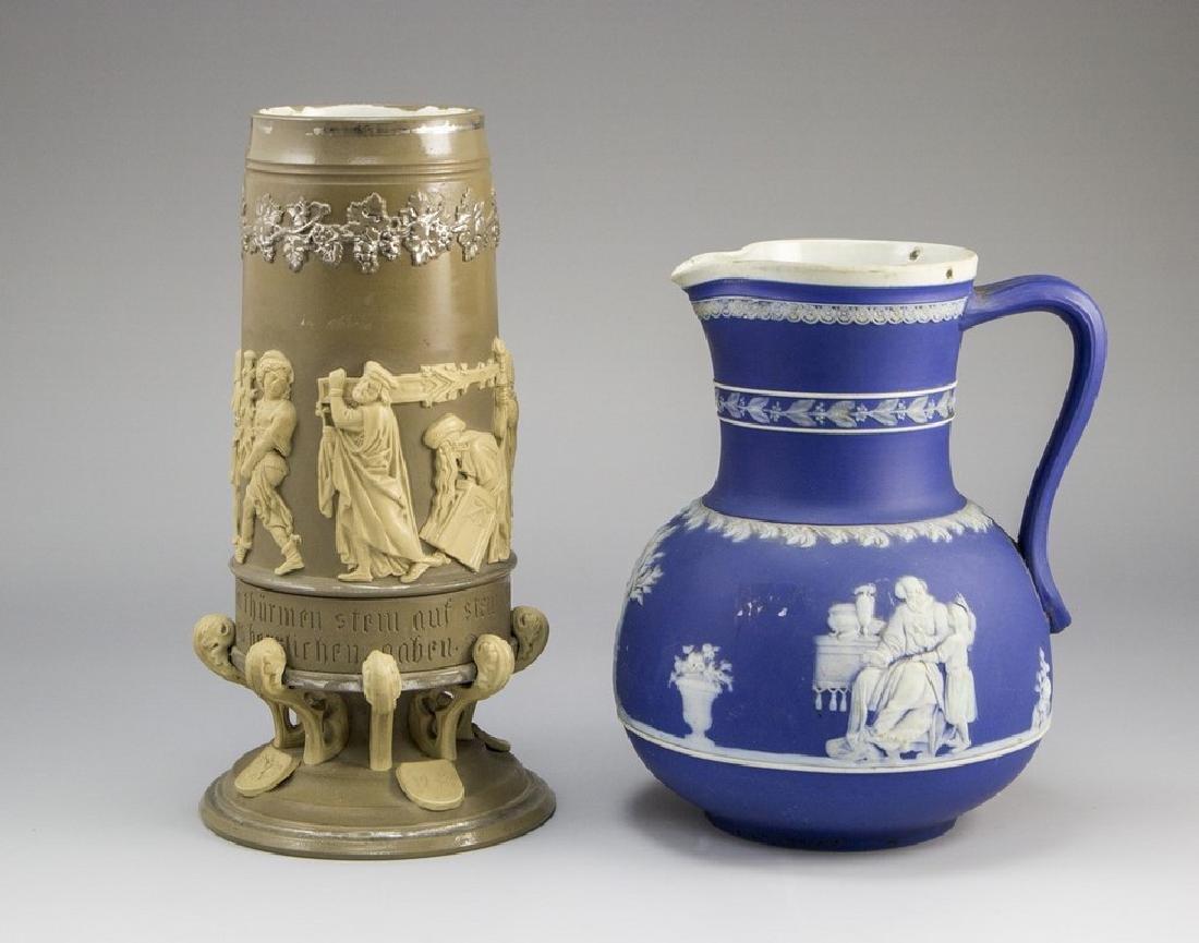 Lot of German Earthenware Vases/Jugs