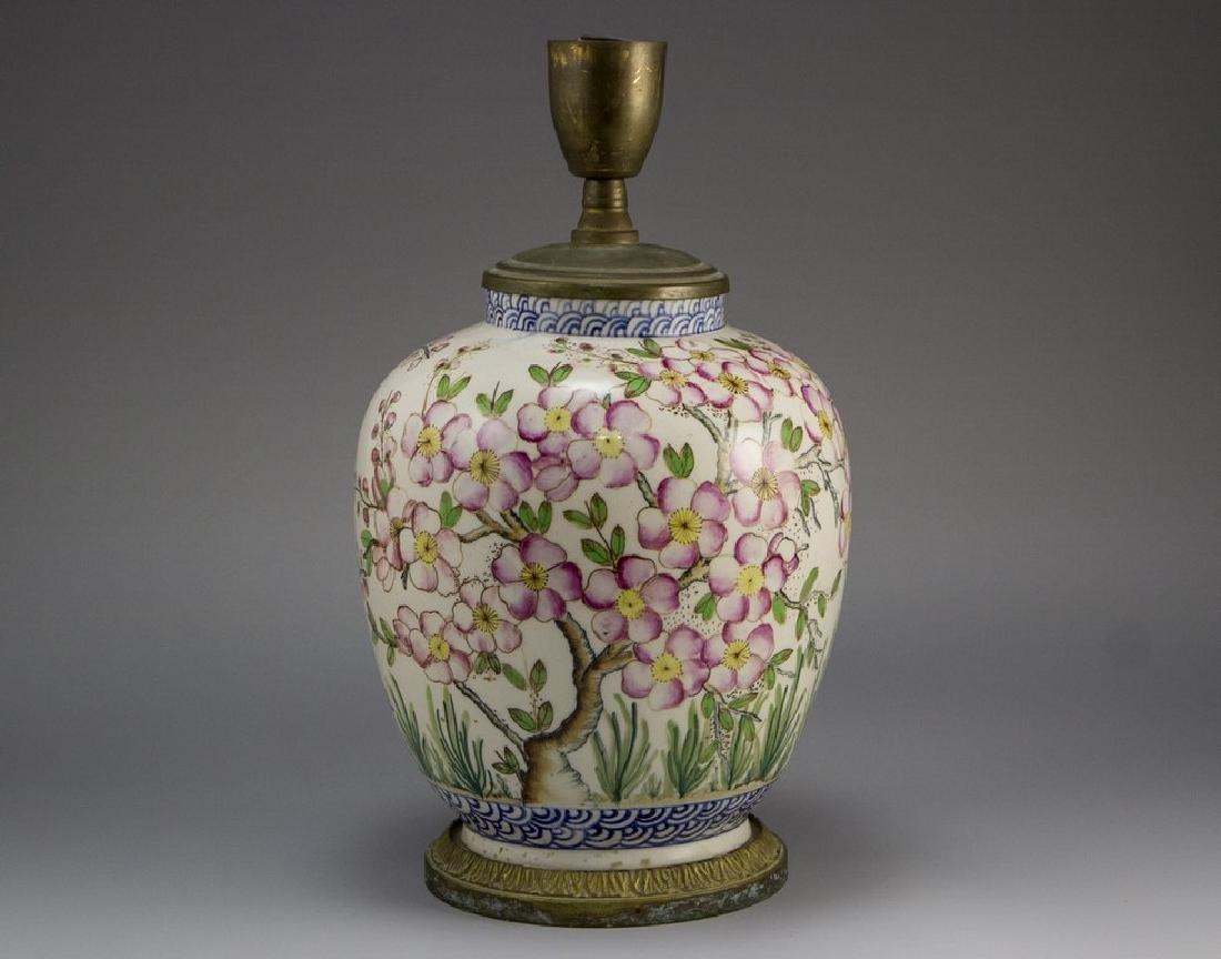 Porcelain Vase/Lamp