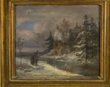 Unknown Artist, Winter Landscape