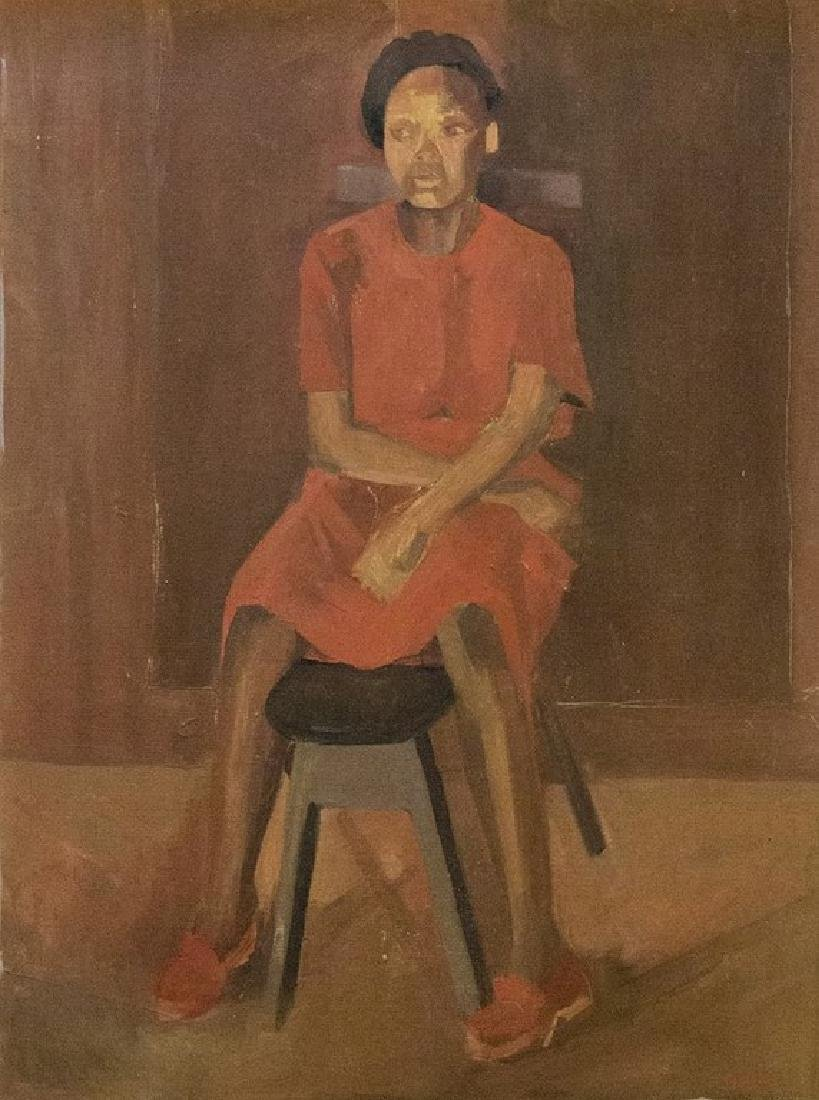 Unidentified Artist, Woman on Chair