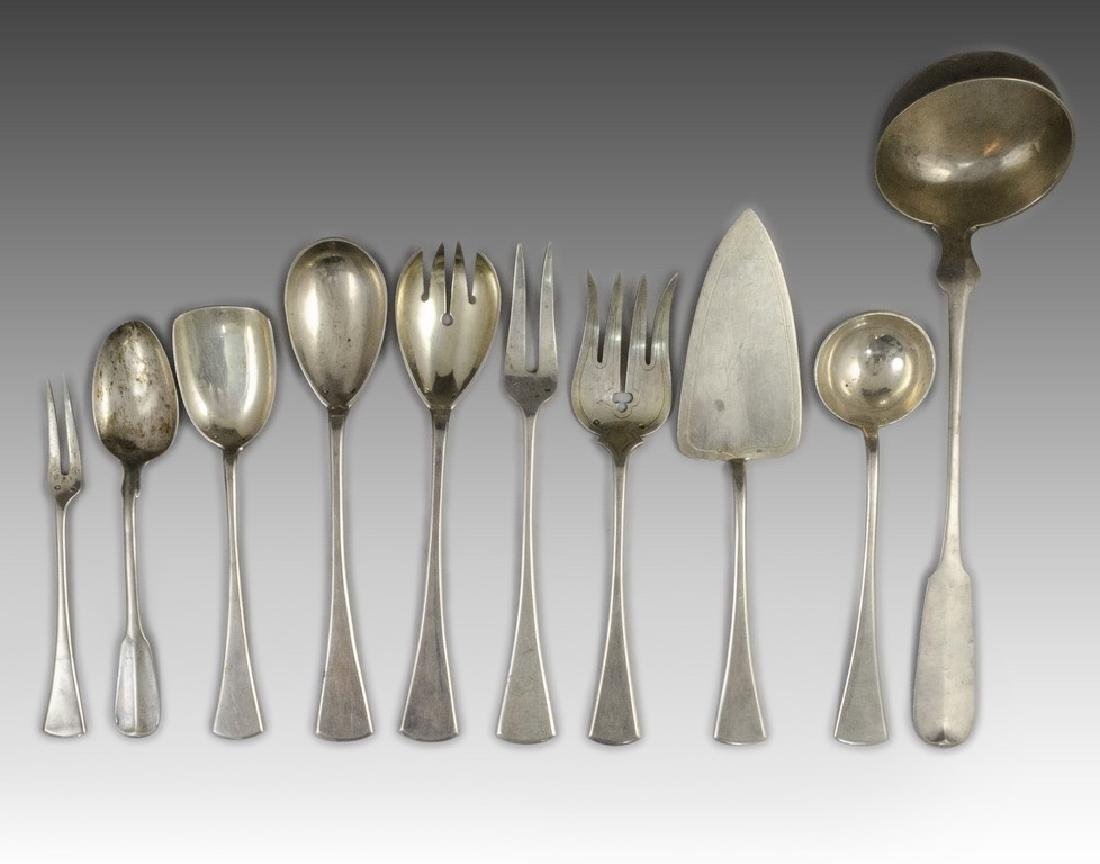 Lot of Silver Serving Spoons