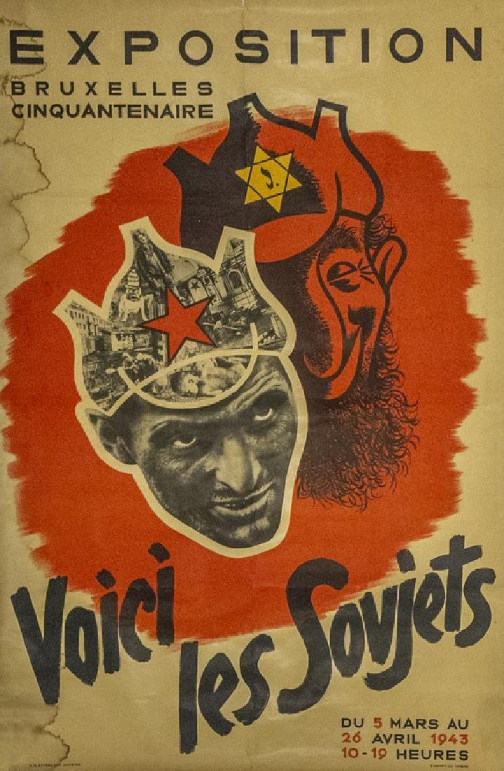 Belgian Anti-Semitic and Anti-Bolshevik Poster