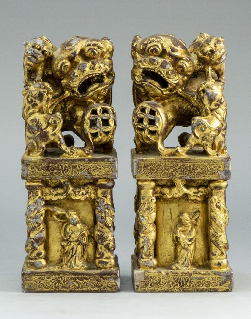 Pair of Chinese Soapstone Sculptures